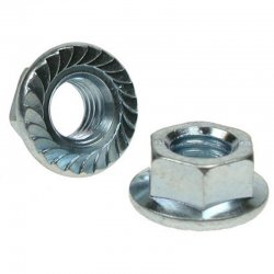 Serrated  Flange  Nuts  Zinc  Plated