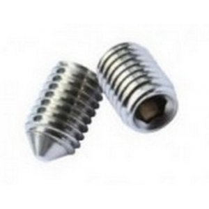 Cone Point Socket Set Screws - Self Colour