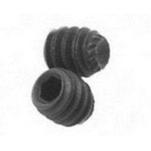 Knurled Cup Point Socket Set Screws - Self Colour