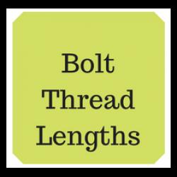 Lengths of thread on hexagon bolts
