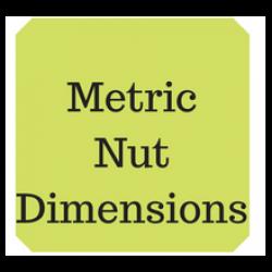 Metric nut dimensions