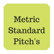 Metric standard thread pitch table