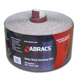 115mm  Red  Sandpaper  Roll - General  Purpose  Use